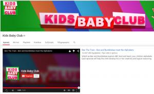 Τα καλύτερα κανάλια του Youtube για το 2015-Kids Baby Club
