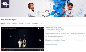 Τα καλύτερα κανάλια του Youtube για το 2015-The slow Mo Guys channel