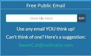 Εγγραφή σε υπηρεσίες Internet με ανώνυμο email.